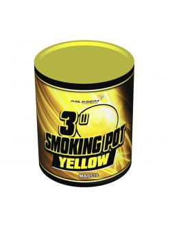 Цветной дым SMOKING POT желтого цвета (60 сек)
